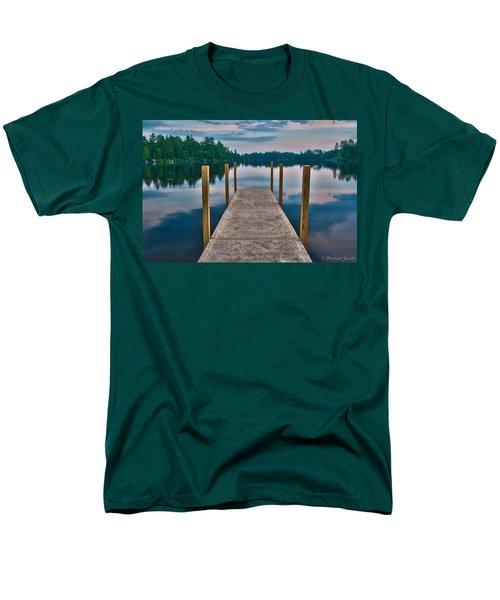 Lees Mills Dock Men's T-Shirt  (Regular Fit) by Brenda Jacobs