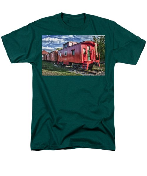 Little Red Caboose Men's T-Shirt  (Regular Fit) by Guy Whiteley