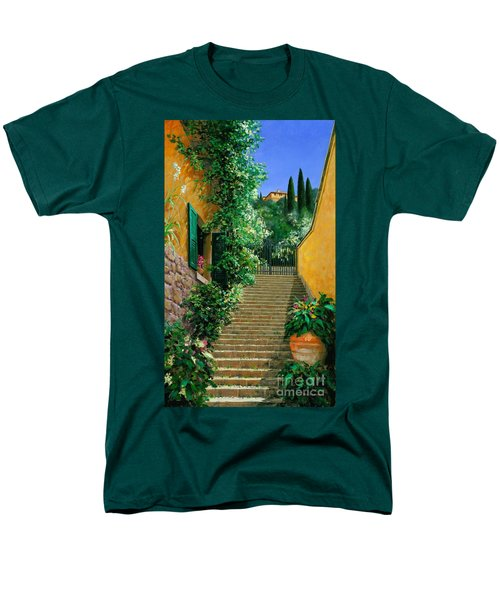 Men's T-Shirt  (Regular Fit) featuring the painting Lofty Heights by Michael Swanson