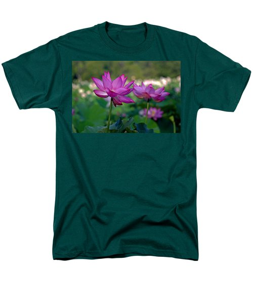 Men's T-Shirt  (Regular Fit) featuring the photograph Lotus Flowers by Jerry Gammon