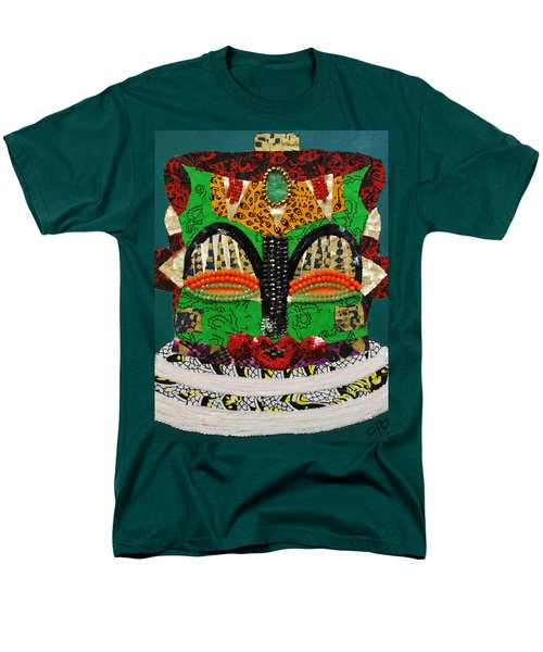 Men's T-Shirt  (Regular Fit) featuring the tapestry - textile Lotus Warrior by Apanaki Temitayo M
