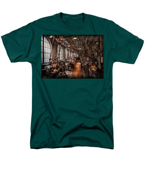 Machinist - A Fully Functioning Machine Shop  Men's T-Shirt  (Regular Fit) by Mike Savad