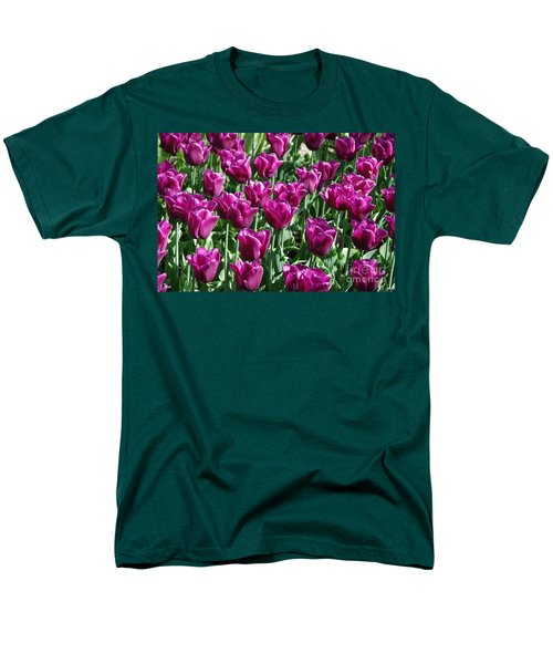 Men's T-Shirt  (Regular Fit) featuring the photograph Magenta Tulips by Allen Beatty