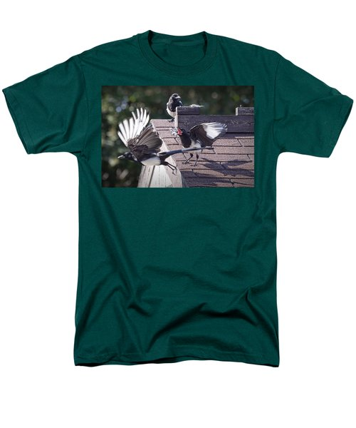 Magpie Dispute Men's T-Shirt  (Regular Fit) by Randall Nyhof