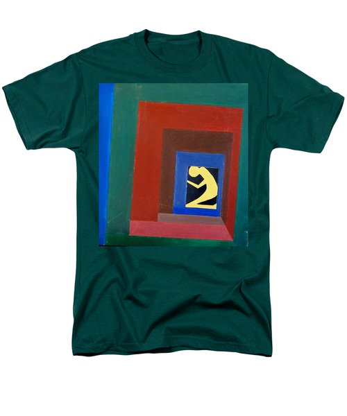 Men's T-Shirt  (Regular Fit) featuring the painting Man In A Box by Lenore Senior