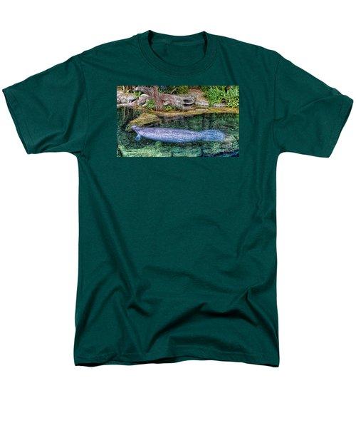 Manatee Men's T-Shirt  (Regular Fit) by Olga Hamilton