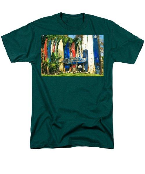 Maui Surfboard Fence - Peahi Hawaii Men's T-Shirt  (Regular Fit) by Sharon Mau