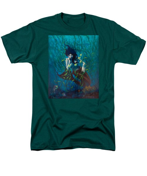 Men's T-Shirt  (Regular Fit) featuring the painting Mermaid by Rob Corsetti