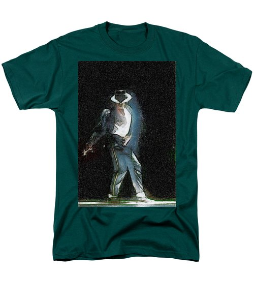 Men's T-Shirt  (Regular Fit) featuring the painting Michael Jackson by Georgi Dimitrov
