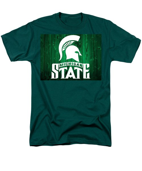 Michigan State Barn Door Men's T-Shirt  (Regular Fit) by Dan Sproul