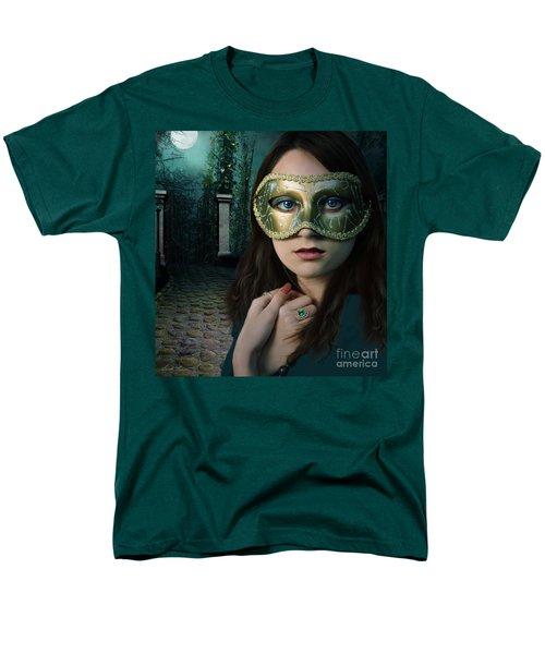 Moonlight Rendezvous Men's T-Shirt  (Regular Fit) by Linda Lees