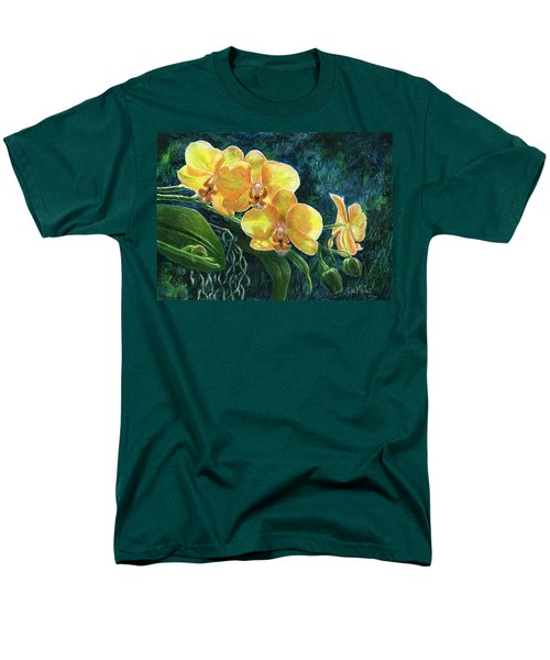 Men's T-Shirt  (Regular Fit) featuring the drawing Moth Orchids by Sandra LaFaut