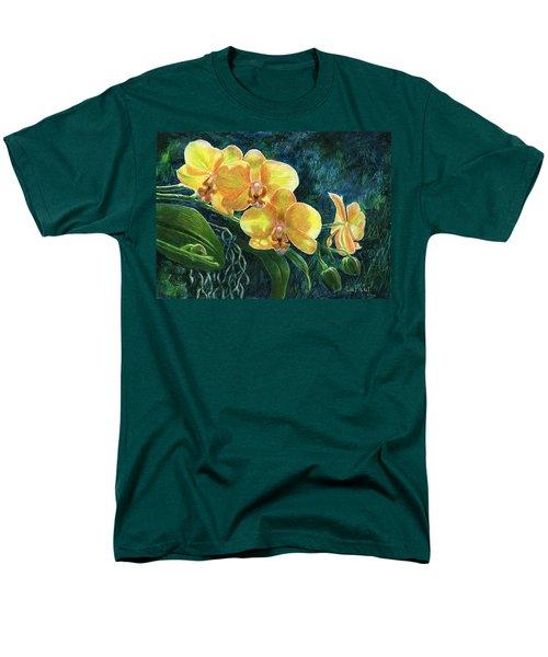 Moth Orchids Men's T-Shirt  (Regular Fit) by Sandra LaFaut