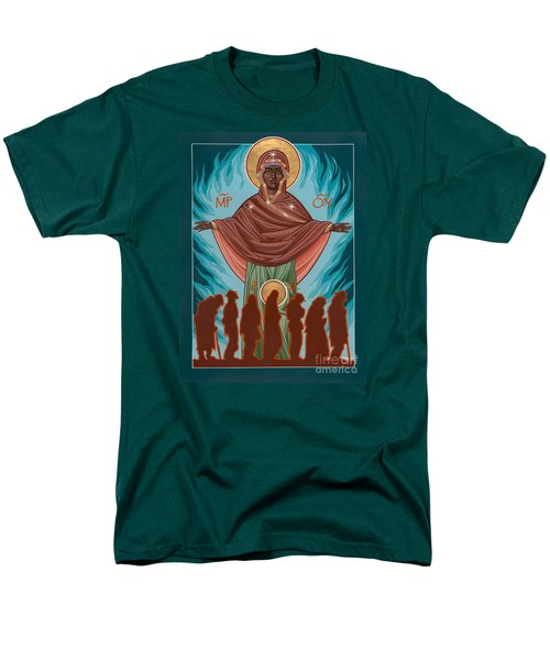 Mother Of Sacred Activism With Eichenberg's Christ Of The Breadline Men's T-Shirt  (Regular Fit)