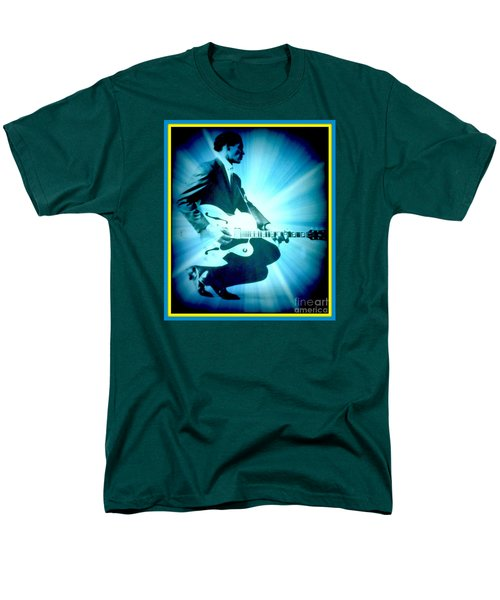 Mr Chuck Berry Blueberry Hill Style Edited 2 Men's T-Shirt  (Regular Fit) by Kelly Awad