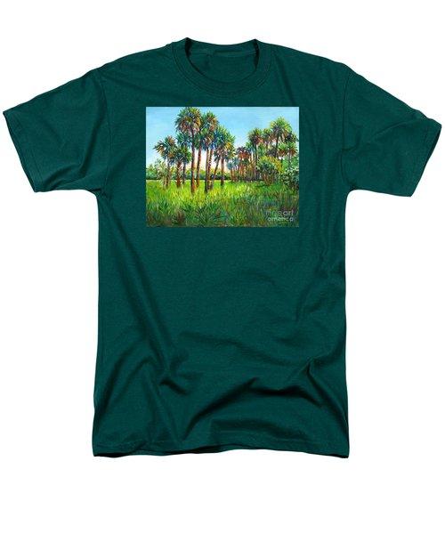 Myakka Palms Men's T-Shirt  (Regular Fit) by Lou Ann Bagnall