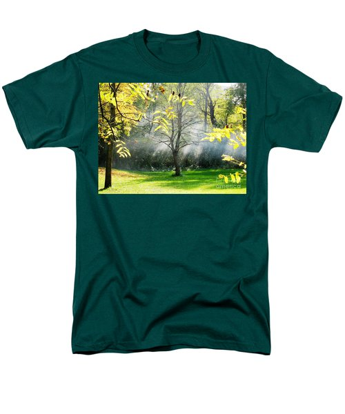 Men's T-Shirt  (Regular Fit) featuring the photograph Mystical Parkland by Nina Silver