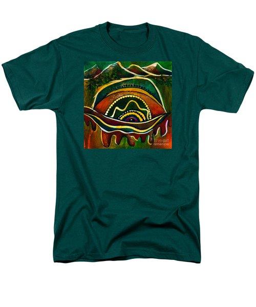 Men's T-Shirt  (Regular Fit) featuring the painting Nature's Child Spirit Eye by Deborha Kerr