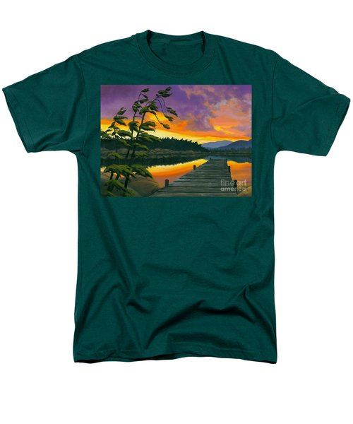 Men's T-Shirt  (Regular Fit) featuring the painting After Glow - Oil / Canvas by Michael Swanson