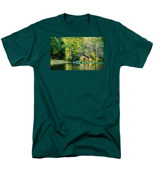 Old Cabin By The Pond Men's T-Shirt  (Regular Fit) by Parker Cunningham