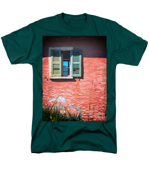Men's T-Shirt  (Regular Fit) featuring the photograph Old Window With Reflection by Silvia Ganora