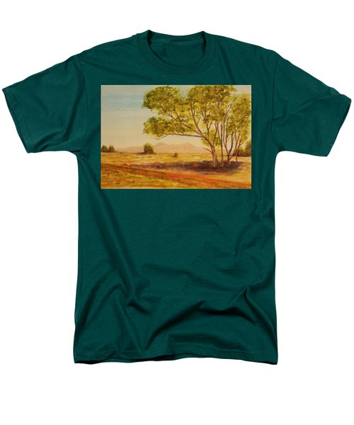 On The Road To Broken Hill Nsw Australia Men's T-Shirt  (Regular Fit) by Tim Mullaney