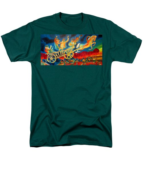 On The Road To Rebbe Men's T-Shirt  (Regular Fit) by Leon Zernitsky
