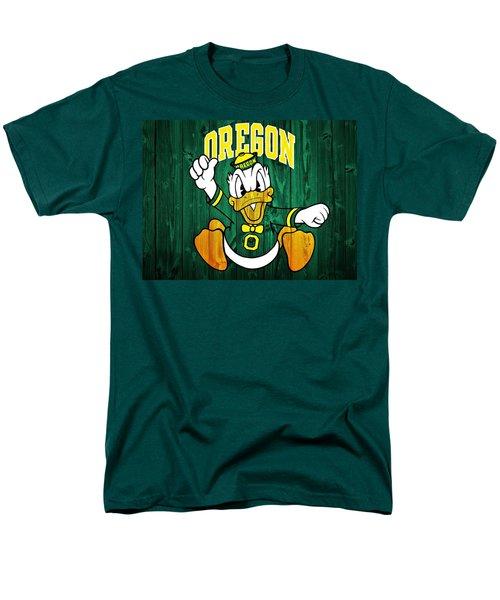 Oregon Ducks Barn Door Men's T-Shirt  (Regular Fit) by Dan Sproul