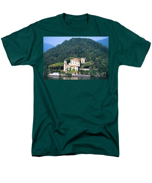 Men's T-Shirt  (Regular Fit) featuring the photograph Palace At Lake Como Italy by Greta Corens