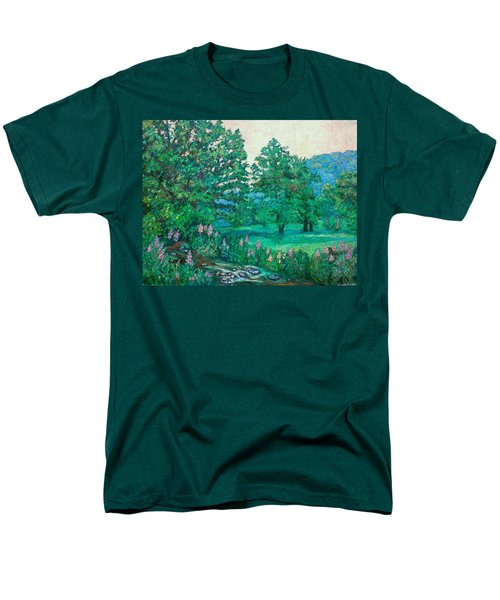 Men's T-Shirt  (Regular Fit) featuring the painting Park Road In Radford by Kendall Kessler