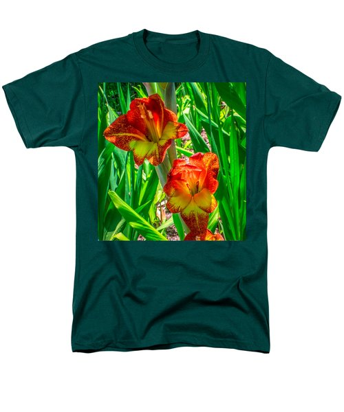 Men's T-Shirt  (Regular Fit) featuring the photograph Parrot Gladiolus by Rob Sellers