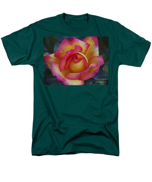 Peace In Floral Format Men's T-Shirt  (Regular Fit) by Kathy McClure