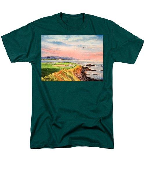 Pebble Beach Golf Course Hole 7 Men's T-Shirt  (Regular Fit) by Bill Holkham
