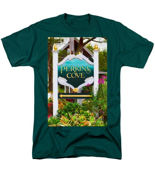 Perkins Cove Sign Men's T-Shirt  (Regular Fit) by Jerry Fornarotto