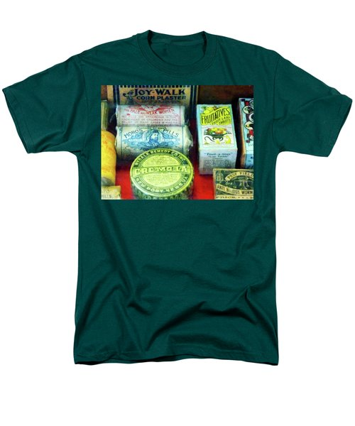Men's T-Shirt  (Regular Fit) featuring the photograph Pharmacy - For Aches And Pains by Susan Savad