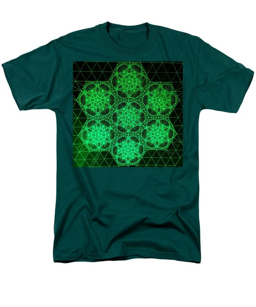 Men's T-Shirt  (Regular Fit) featuring the drawing Photon Interference Fractal by Jason Padgett