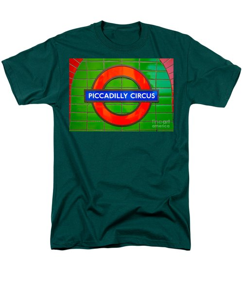 Men's T-Shirt  (Regular Fit) featuring the photograph Piccadilly Circus Tube Station by Luciano Mortula