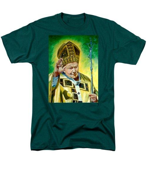 Men's T-Shirt  (Regular Fit) featuring the painting Pilgrim by Henryk Gorecki