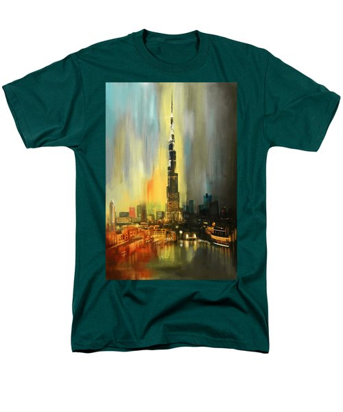 Portrait Of Burj Khalifa Men's T-Shirt  (Regular Fit) by Corporate Art Task Force