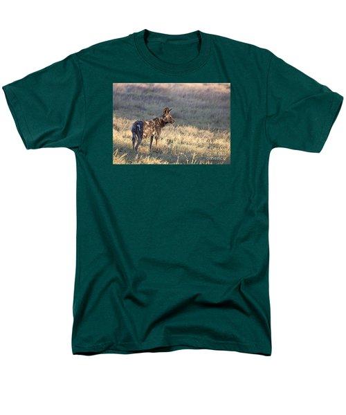 Men's T-Shirt  (Regular Fit) featuring the photograph Pregnant African Wild Dog by Liz Leyden