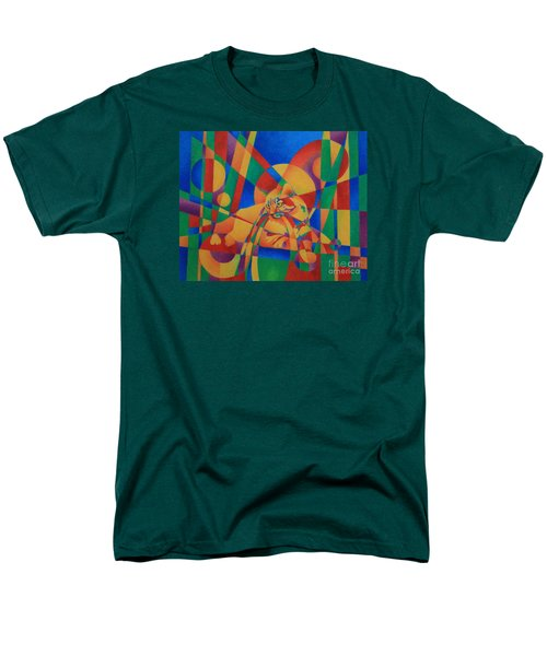 Men's T-Shirt  (Regular Fit) featuring the painting Primary Cat IIi by Pamela Clements
