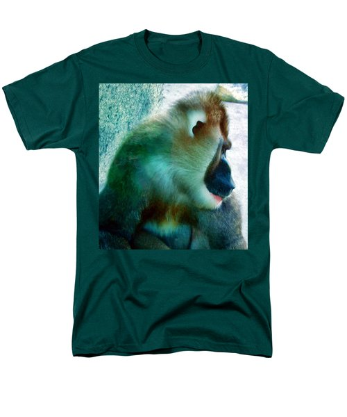 Men's T-Shirt  (Regular Fit) featuring the photograph Primate 1 by Dawn Eshelman