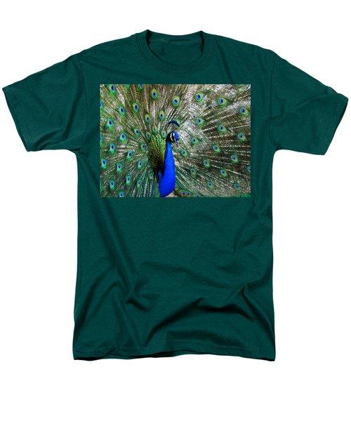 Proud Peacock Men's T-Shirt  (Regular Fit) by Laurel Powell