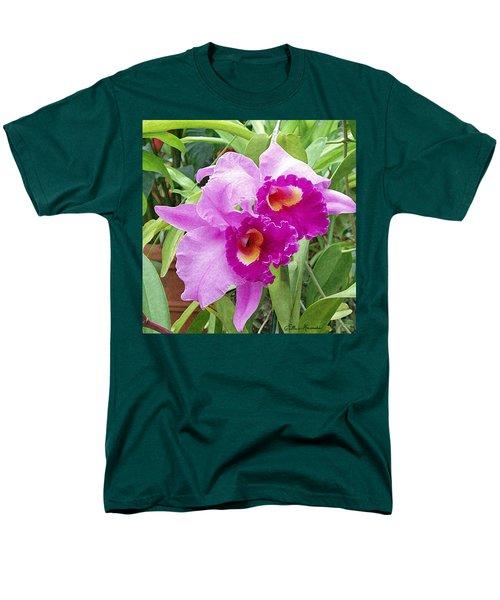 Purple Cattleya Orchids Men's T-Shirt  (Regular Fit)