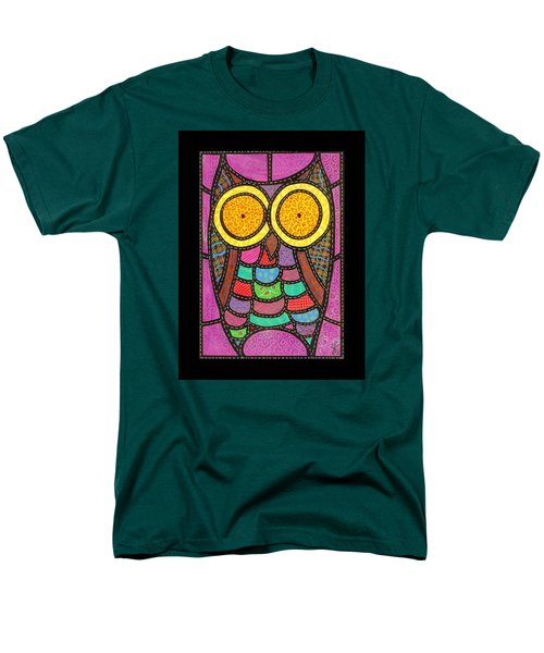 Quilted Owl Men's T-Shirt  (Regular Fit) by Jim Harris