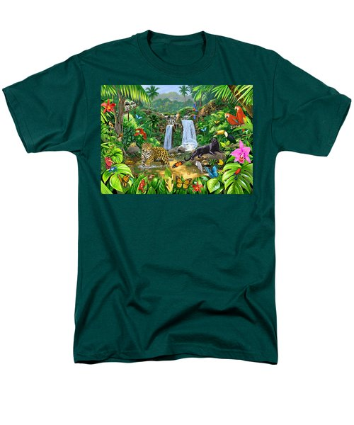 Rainforest Harmony Variant 1 Men's T-Shirt  (Regular Fit) by Chris Heitt