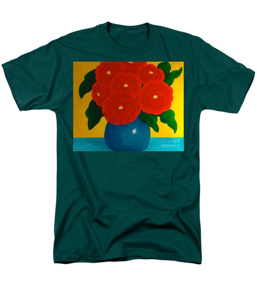 Men's T-Shirt  (Regular Fit) featuring the painting Red Bouquet by Anita Lewis