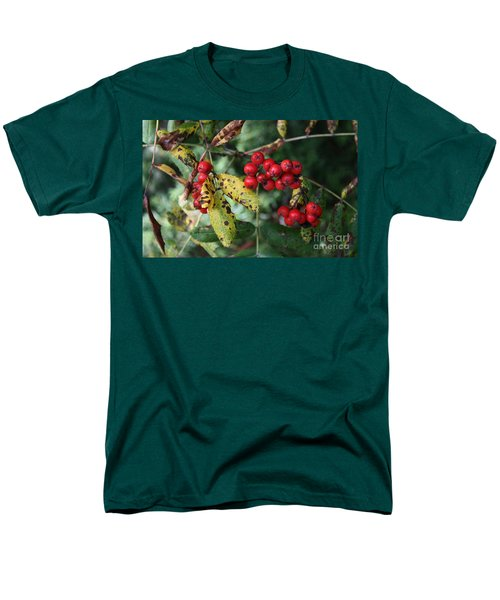 Men's T-Shirt  (Regular Fit) featuring the photograph Red Summer Berries - Whistler by Amanda Holmes Tzafrir