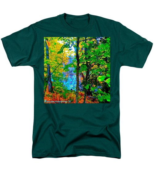 Reed College Canyon Reflections Of Autumn Men's T-Shirt  (Regular Fit) by Anna Porter
