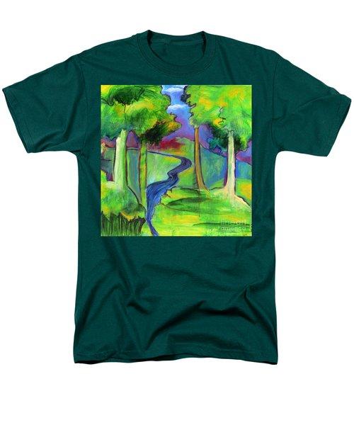 Rendezvous Triptych Men's T-Shirt  (Regular Fit) by Elizabeth Fontaine-Barr